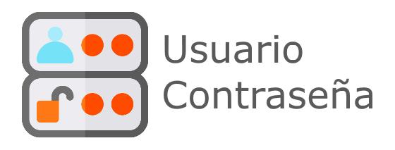 Icono acceso con usuario y contraseña